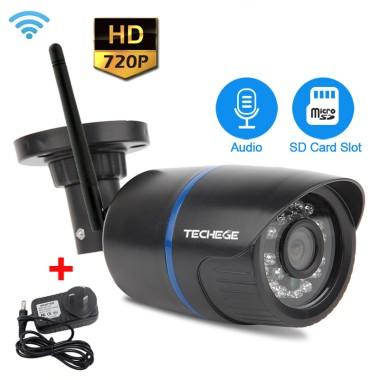 1MP Wi-Fi IP камера цилиндрическая уличная, пластиковая HD 720P P2P