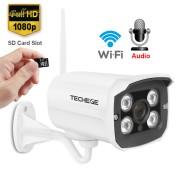 2MP Wi-Fi IP камера цилиндрическая уличная, металлическая HD 1080P P2P